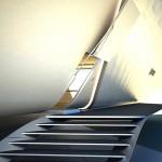 Escalier à l'entrée de la California Roll House