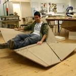 Cay sofa - prototype en bois du fauteuil pliant