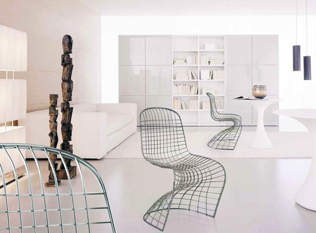 Chaise Pantoia, la chaise panton version grille métallique
