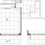 Plan d'un garage rénové en bureau design