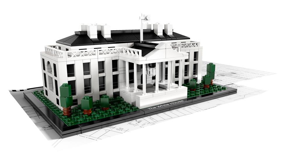 lego architecture la maison blanche en briques de lego. Black Bedroom Furniture Sets. Home Design Ideas