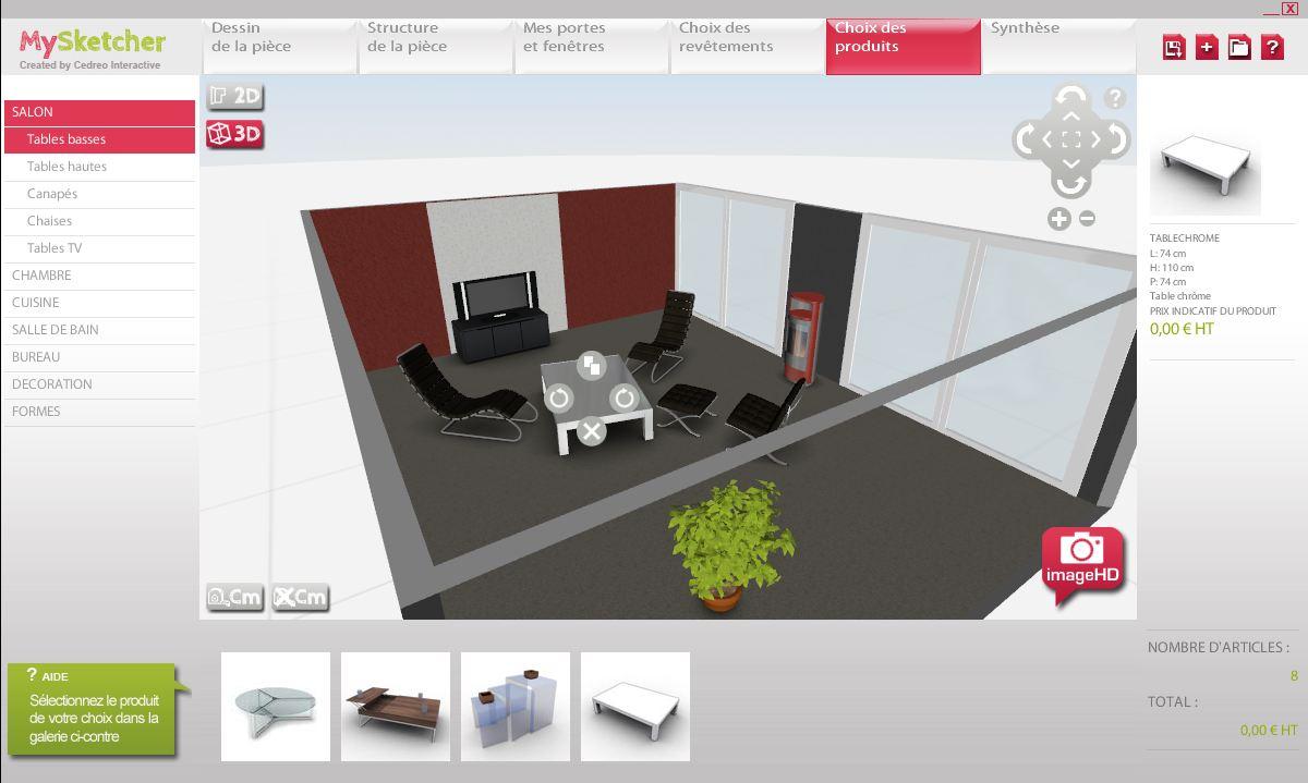 Logiciel design 3d my sketcher for Logiciel decoration interieur 3d
