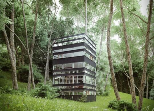 Maison japonaise verticale par ando studio for Architecture japonaise contemporaine
