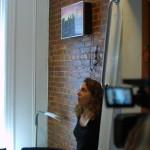 Micro studio à New-York avec un mur en briques rouges