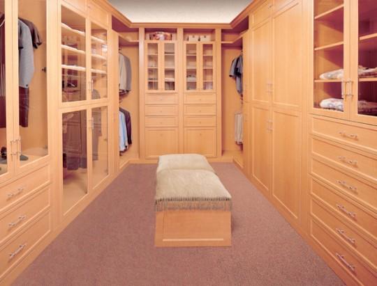 pi ce dressing en u avec pouf central. Black Bedroom Furniture Sets. Home Design Ideas