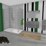 Salle de bain en 3D conçue avec My Sketcher