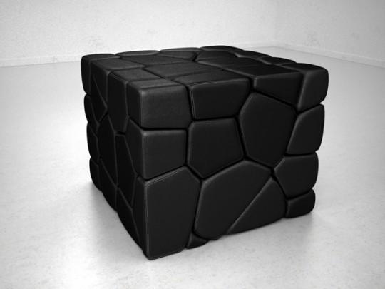 Vuzzle chair : le fauteuil en forme de cube