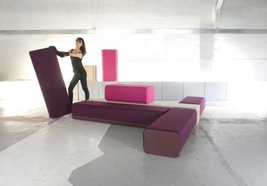 B flex, le sofa modulaire de Marine Peyre
