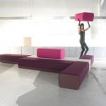 B flex, le sofa composé de modules en mousse