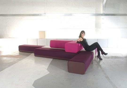 B flex : le sofa composé de modules colorés