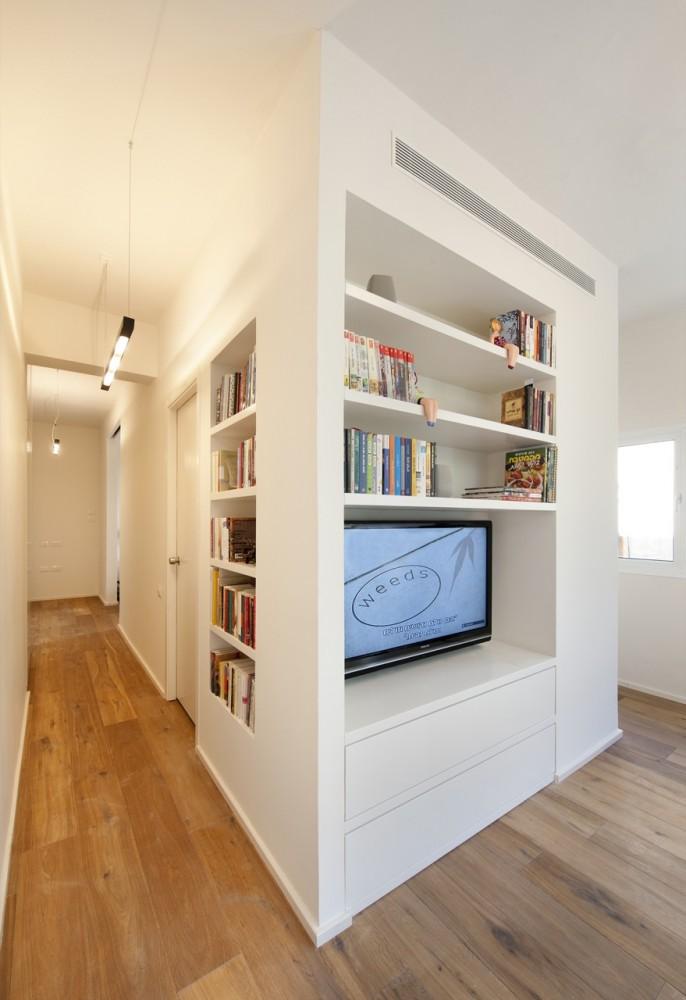 Appartement de 40m2 : vue du couloir