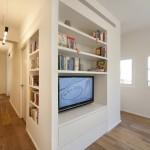 Meuble TV bibliothèque réalisé sur mesure
