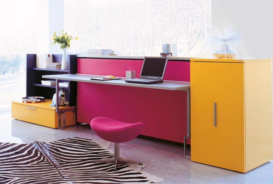 armoire lit bureau escamotable cabrio integrato. Black Bedroom Furniture Sets. Home Design Ideas