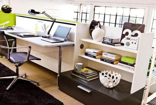 Armoire-lit bureau Cabrio integrato
