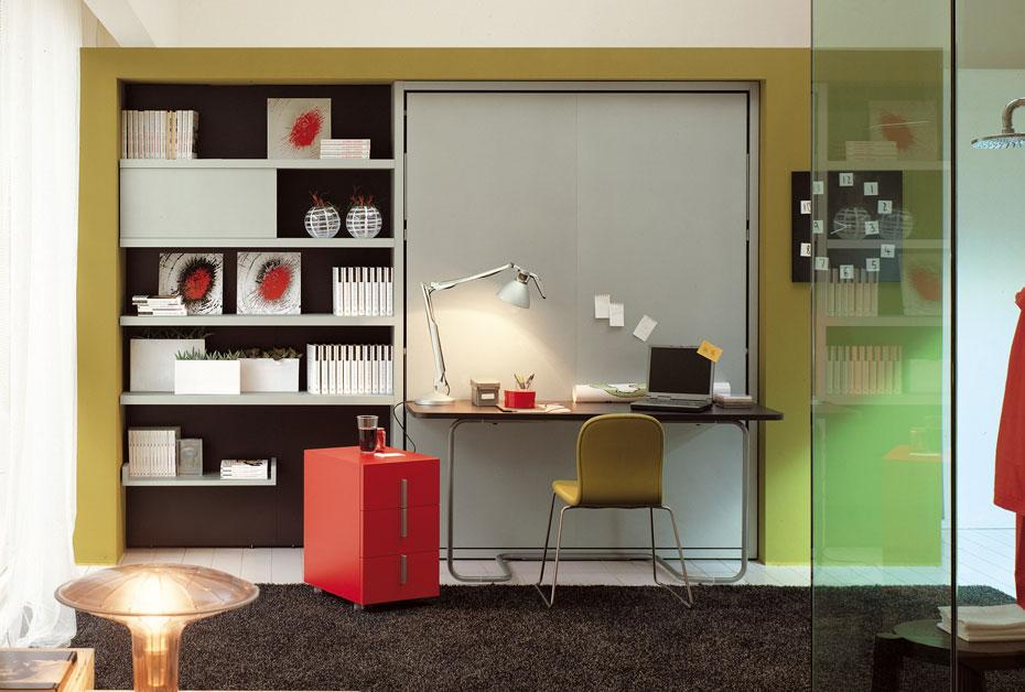 Armoire-lit avec bureau ou comment dormir sur son lieu de travail