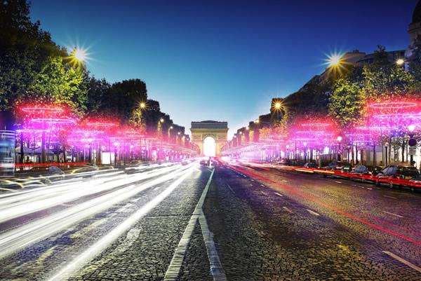 Illuminations de Noël en 2011 sur les Champs-Elysées