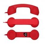 Combiné téléphonique vintage rouge pour iPhone