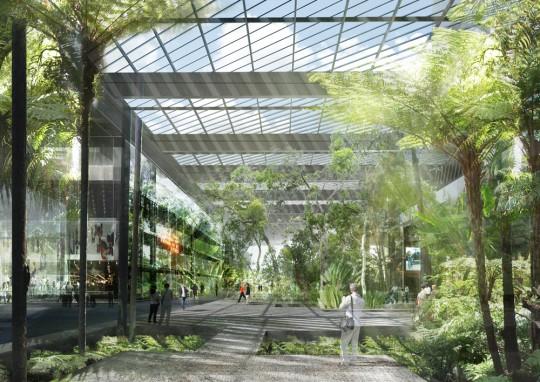 Ile Seguin : Le grand jardin couvert
