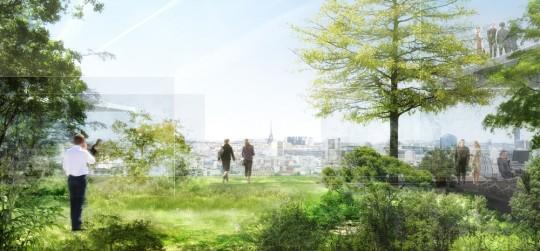 Ile Seguin : les terrasses hautes plantées