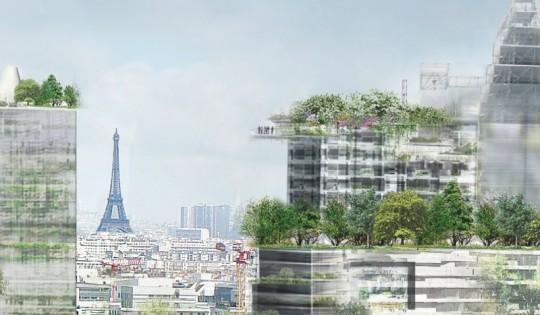 Ile Seguin : vue de Paris depuis les tours de Jean Nouvel
