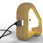 Lampe design en bois Ododo