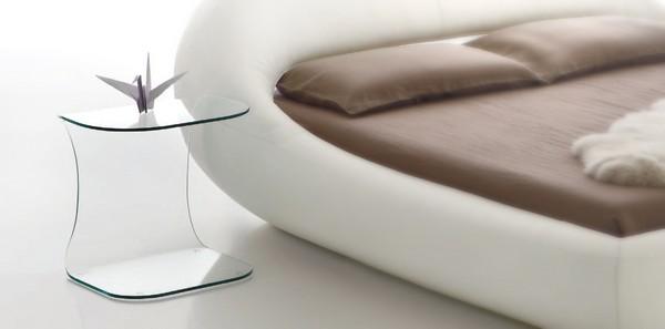 lit sleepy table de chevet transparente. Black Bedroom Furniture Sets. Home Design Ideas