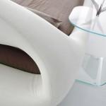Tête de lit du lit en cuir Sleepy