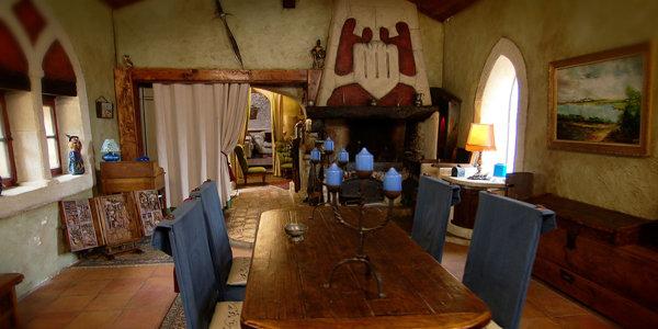 Intérieur de la maison médiévale à Toulouse