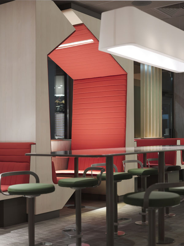 Le nouveau design des restaurants Mac Donalds signé Patrick Norguet