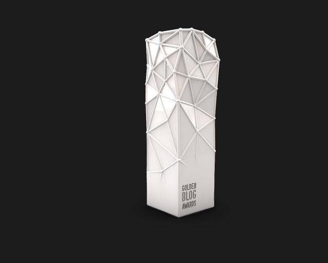 Le trophée des Golden Blog Awards
