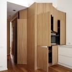 Cuisine sur mesure minimaliste en bois