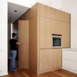 Cuisine moderne en bois dans le House Studio