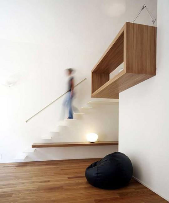 Escalier design sans contre-marches