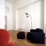 Un parquet massif dans un appartement design