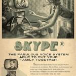 Affiche Skype rétro vintage