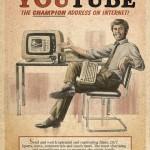 Affiche Youtube rétro vintage