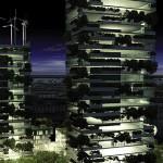 Bosco Verticale, tour écologique la nuit