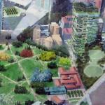 Vue aérienne des 2 tours Bosco Verticale