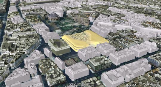 Carte 3D, Paris du futur avec Google Earth