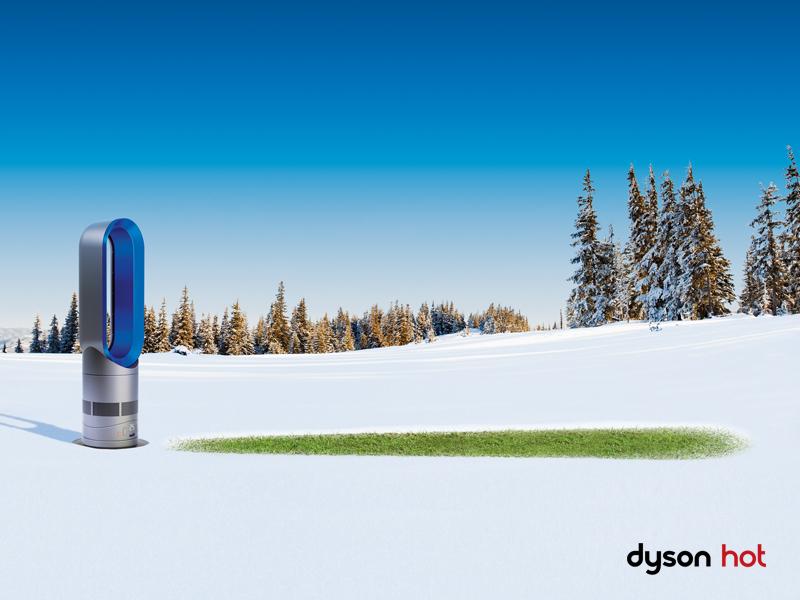 Dyson Hot dans la neige