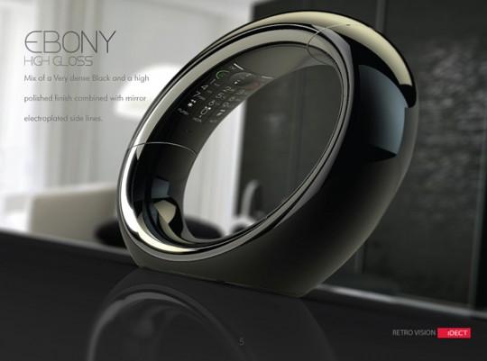 Téléphone design ellipse Eclipse ebony