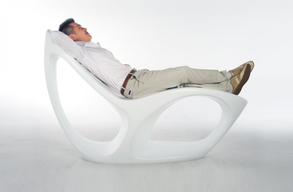 Chaise longue esprit lounge Odissey | Alvin Huang