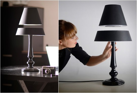 Une lampe avec un abat-jour en lévitation par Light light