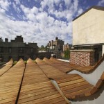 Toit terrasse en bois original à Greenwich village