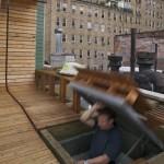 Trappe d'accès au toit terrasse