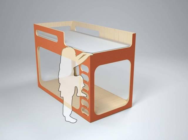 lit double pour enfant design perludi. Black Bedroom Furniture Sets. Home Design Ideas