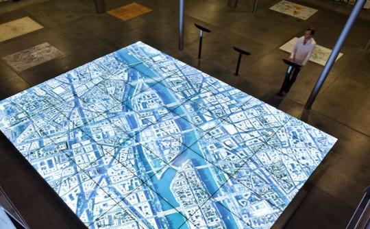 Maquette numérique interactive Paris du futur