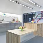 Nourriture et sodas gratuits dans la cuisine de Google à Paris