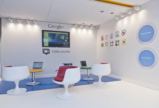 Espace vidéo-bulles au siège de Google à Paris