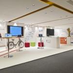 Startup café, espace détente au siège de Google Paris